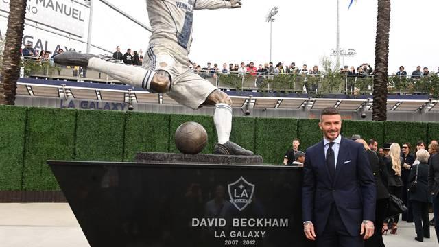 MLS: LA Galaxy Unveil David Beckham Statue