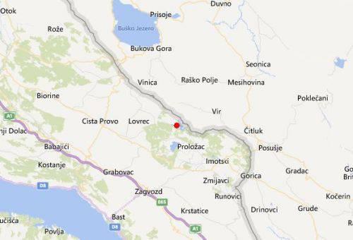 Potres jačine 3,3 tresao kod Imotskog u novogodišnjoj noći