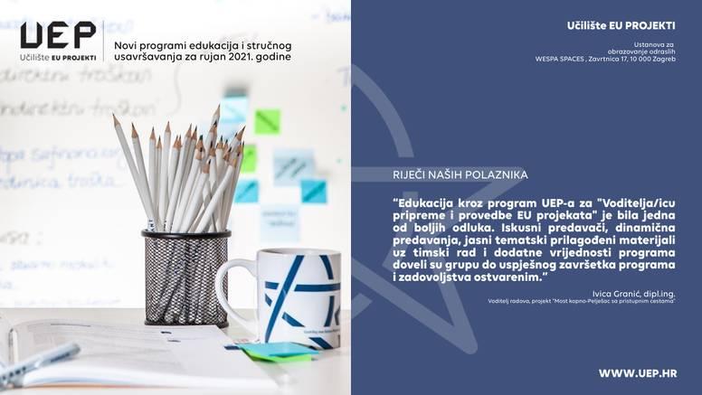 Učilište EU projekti upisuje polaznike u nove obrazovne grupe