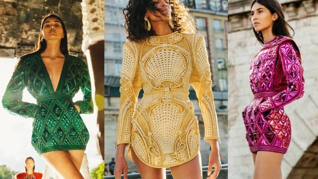 Balmain Haute Couture: Mikro haljine s glamuroznim faktorom