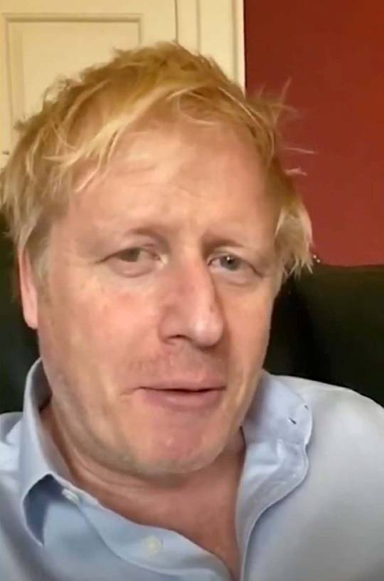 Britain's Prime Minister Boris Johnson is seen in a screen grab from his Twitter video update, amid the coronavirus disease (COVID-19) outbreak in London