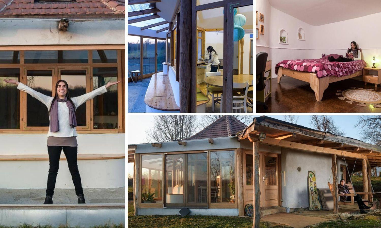 Arhitektica iz Zagreba svojim rukama napravila kuću od blata