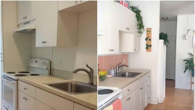 Uz samoljepljive pločice i malo boje skroz promijenila kuhinju