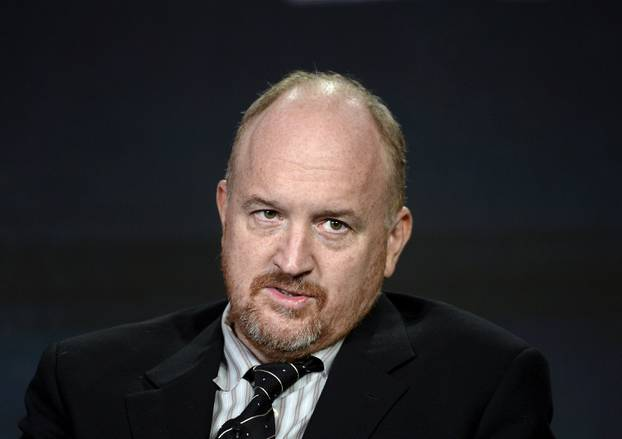 """FILE PHOTO: Executive producer Louis C.K. participates in a panel for the FX Networks series """"Baskets"""" during the TCA Cable Winter Press Tour in Pasadena"""