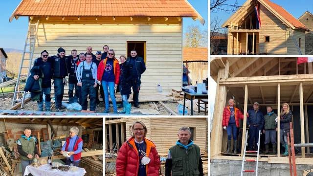Jedna od prvih drvenih kuća nakon potresa: 'Presretni smo, opet imamo krov nad glavom'