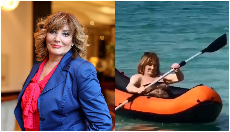 Ljetne radosti: Tereza Kesovija (80) pokazala veslačke vještine