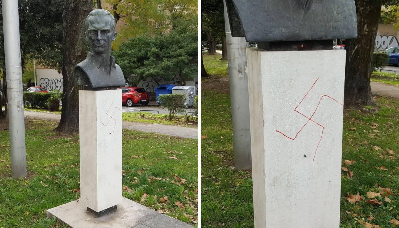 Vandalizam u Splitu: Kukasti križ osvanuo na Radi Končaru