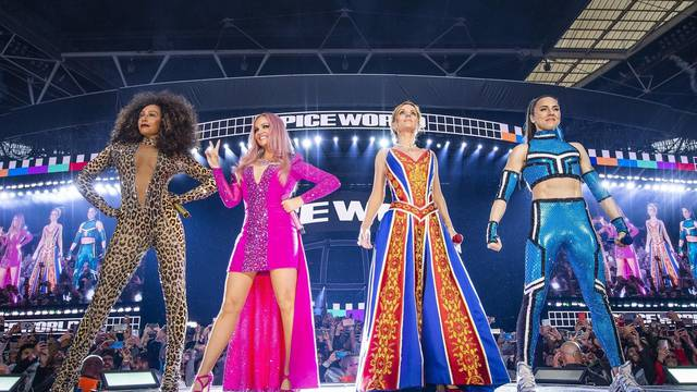 The Spice Girls live at Wembley Stadium on their first of 3 sold out nights