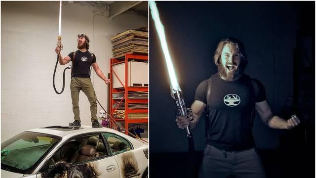 Youtuber je stvorio funkcionalni svjetlosni mač: 'Boli dok gledaš'