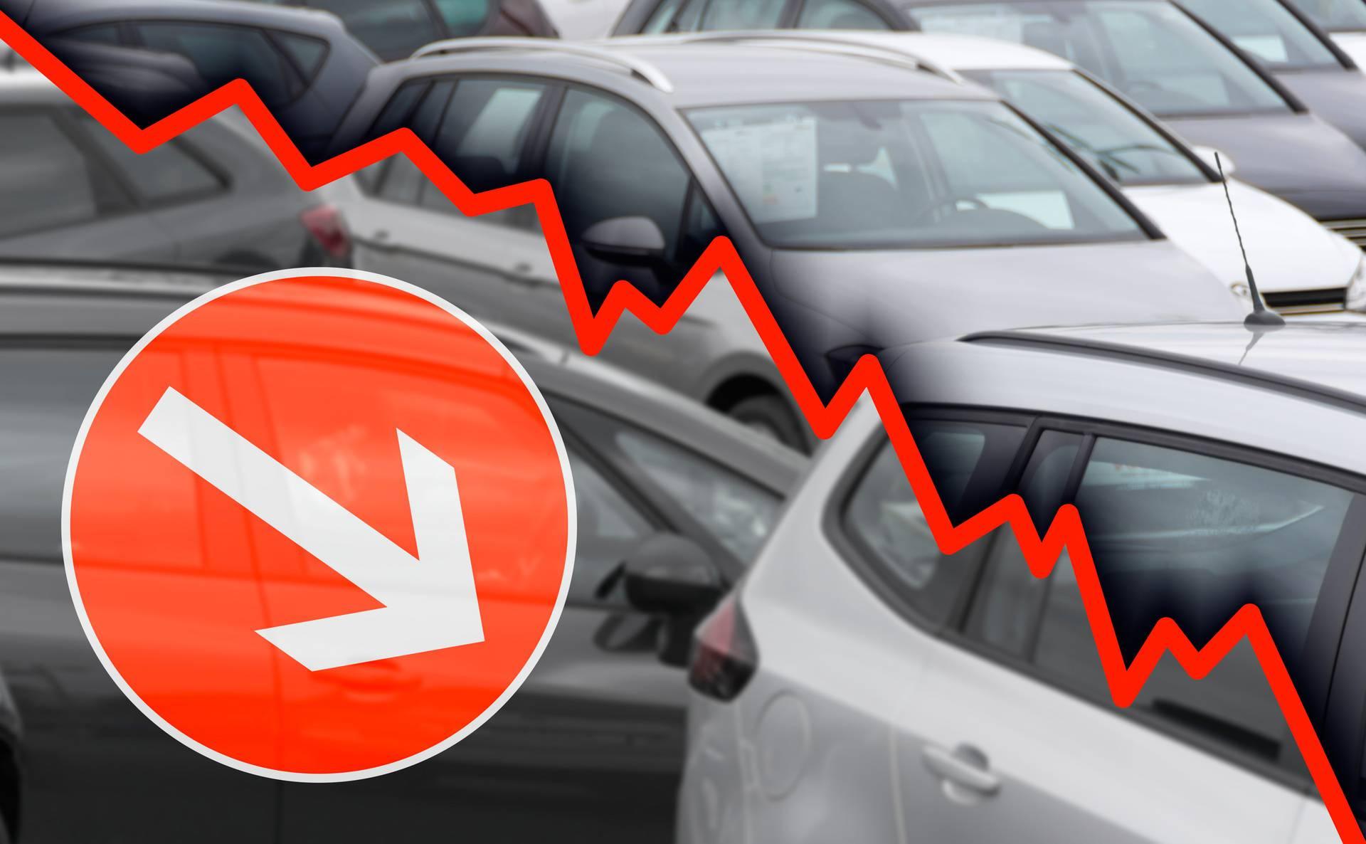 Hrvatska najgora u EU po padu prodaje novih automobila