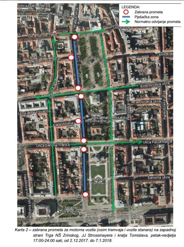 I tako sve do 7. siječnja: Zbog Adventa zatvaraju se ove ulice