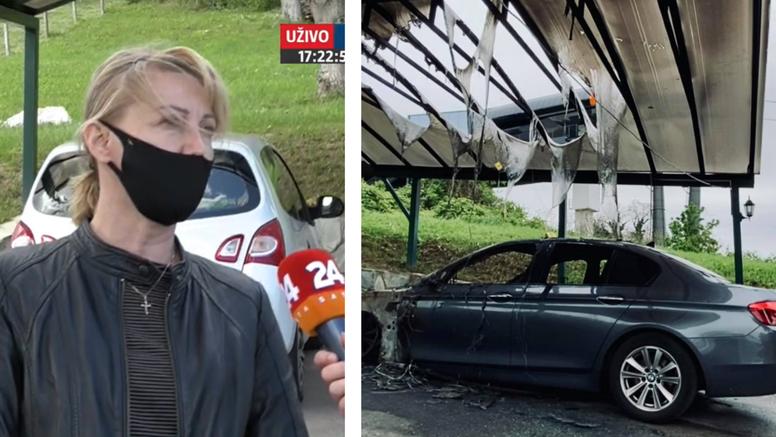 Zagrepčanki koja se jučer žalila na buku žičare Sljeme, sinoć je izgorio automobil u dvorištu