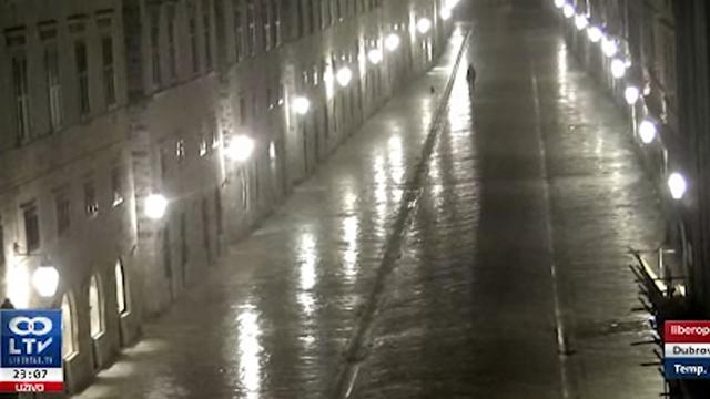 VIDEO Kamera u Dubrovniku zabilježila sinoćnji potres