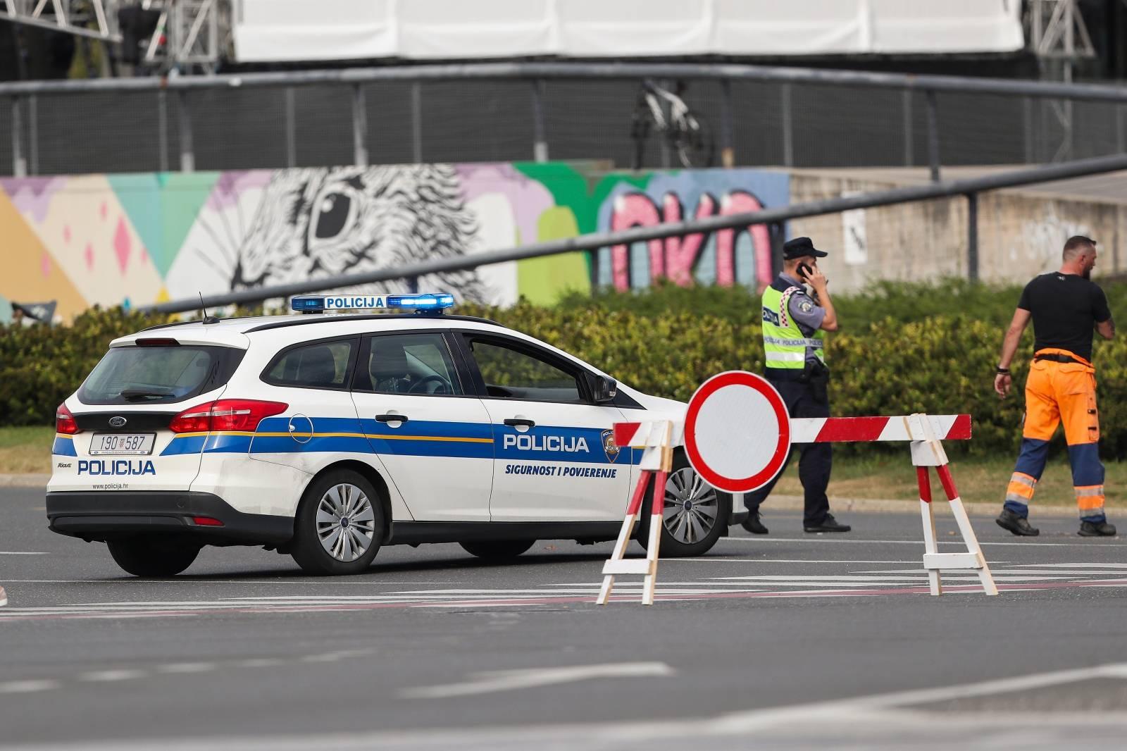 Zagreb: Prometna gužva uoči početka  47. INA Delta Rallyja