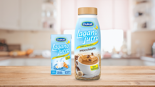 Dukat predstavio Lagano jutro macchiato bez laktoze