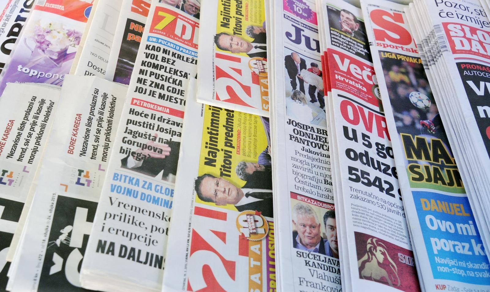 Novine i koronakriza: Naklade pale za 25, oglašavanje za 50%