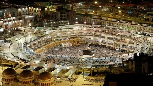 General view of the Kaaba at the Grand Mosque in Mecca