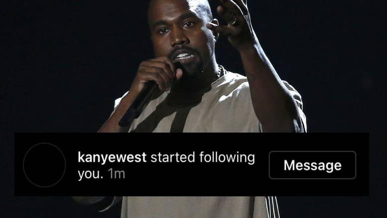 Kanye odlučio na Instagramu zapratiti svakoga tko ima crnu profilnu, Kim nije među njima