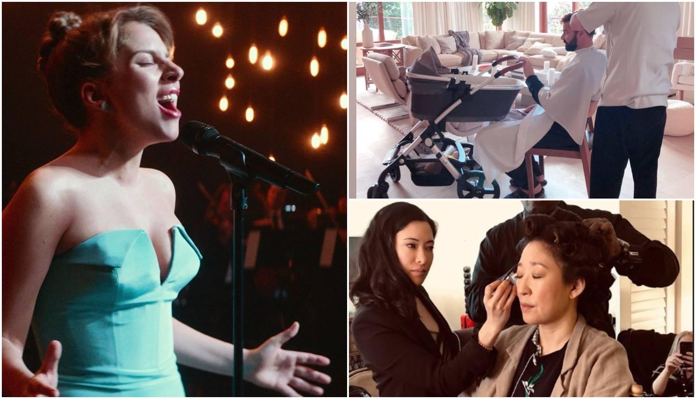 Holivudski šminkeri u akciji: GaGa jede, a Ricky čuva bebu