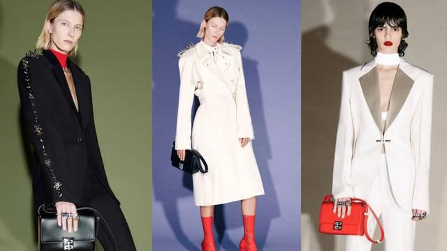 Koloristička igra Givenchy stila: Crna i bijela 'razbijene' crvenom