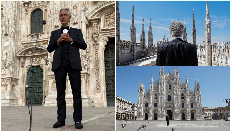 Bocelli pjevao, a milijuni ljudi je plakalo na ove kadrove Milana