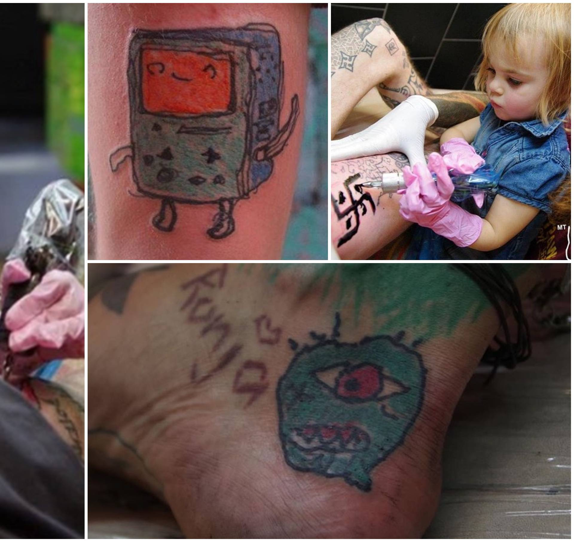 Obožava 'pikati': Djevojčica (9) tetovira od svoje druge godine