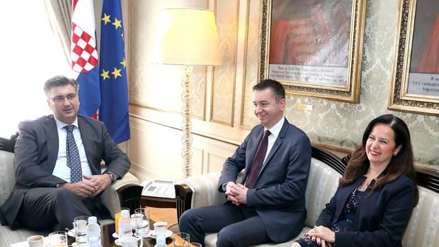 Zagreb: Premijer Plenković primio izvanrednog povjerenika za Agrokor