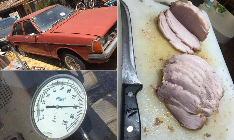 Video: U autu ostavio komad svinjetine da vidi što će biti