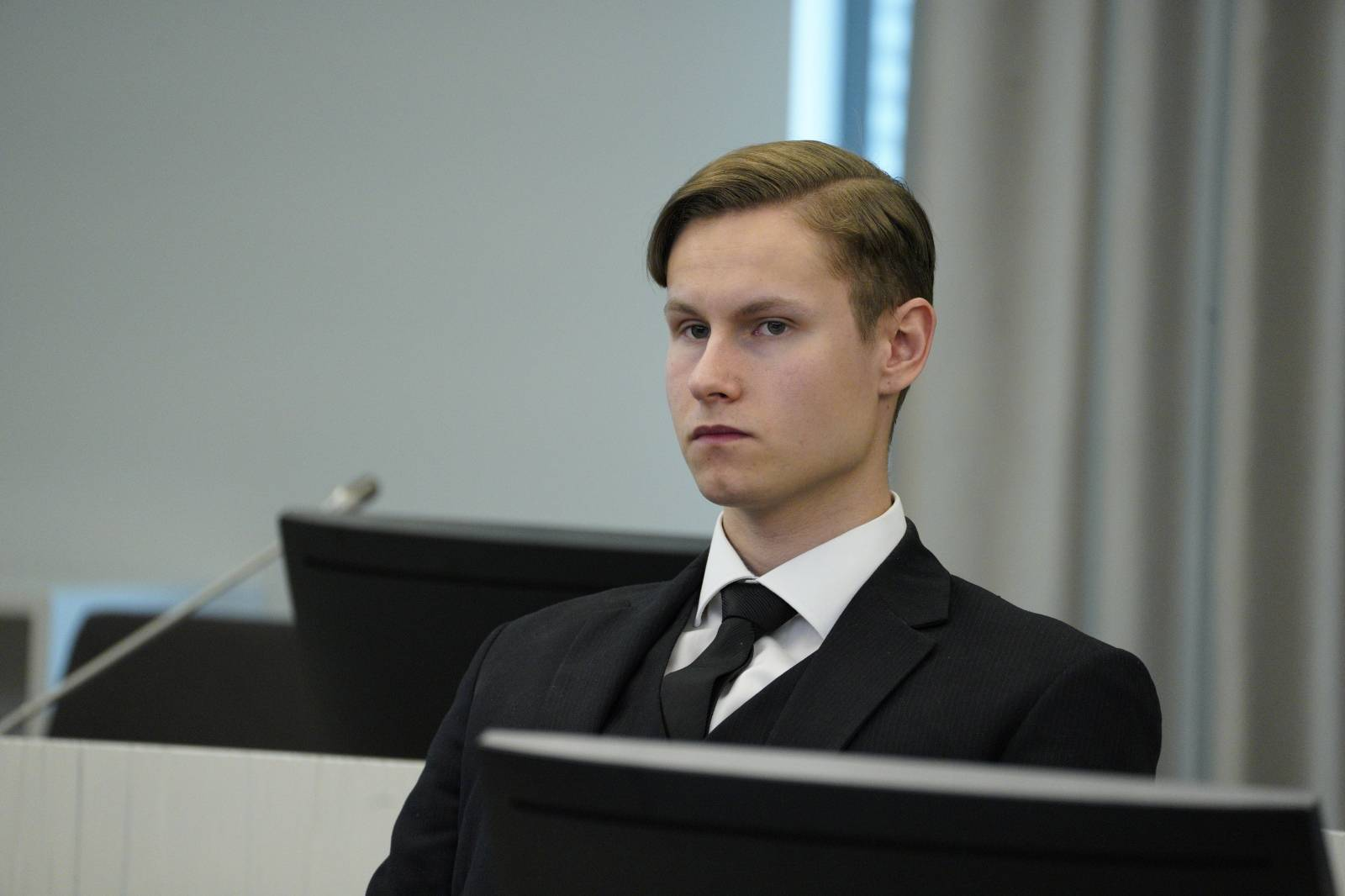 Al-Noor Islamic Centre Mosque shooter Philip Manshaus appears for the verdict at Asker and Baerum district court in Sandvika