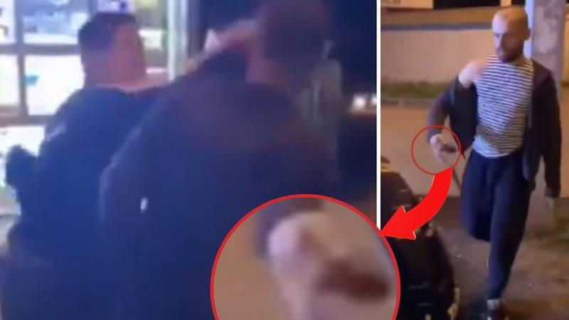 VIDEO Bježi! Ponio je granatu: Suluda snimka tučnjave ispred kioska. Ozlijeđeno petero ljudi