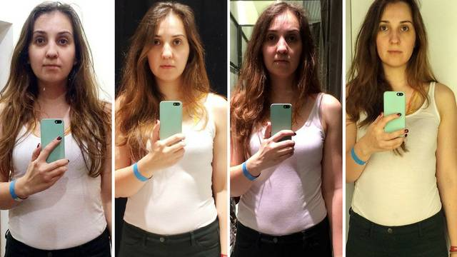 Fotografirala se u 11 garderoba i u svima je izgledala mršavije