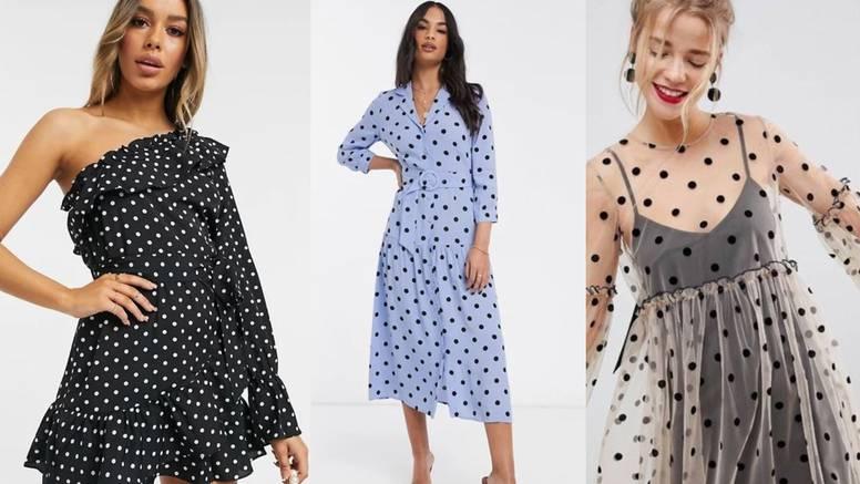 Stilsko šarenilo točkaste haljine