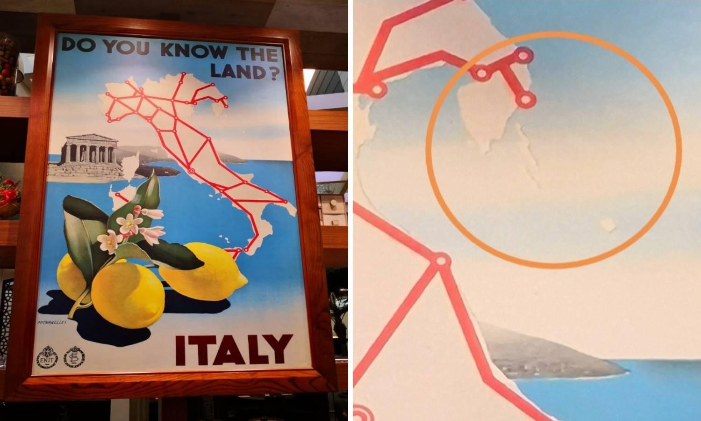 Sjeli na ručak, pogledali na zid pa vidjeli da je Istra dio Italije