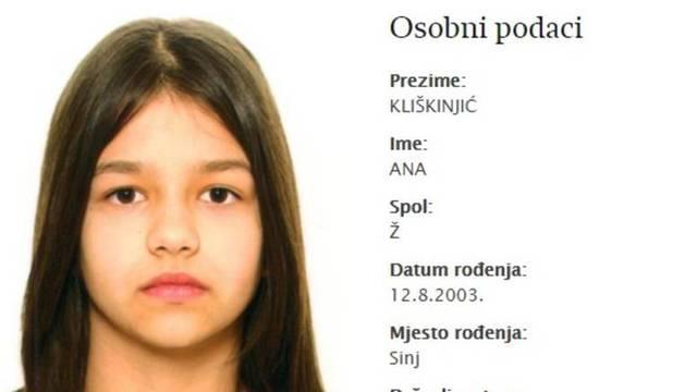 Maloljetna Ana iz Dicma više nije na popisu nestalih osoba