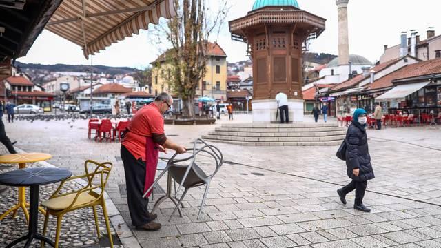 Sarajevo: Terase kafića potpuno prazne - nema mještana niti turista