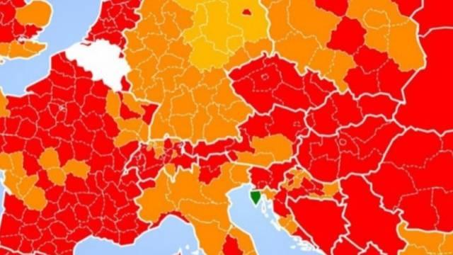 Istra je jedina zelena regija u Europi na svjetskoj korona karti