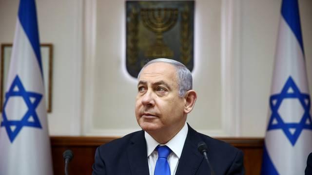 FILE PHOTO: Israeli Prime Minister Benjamin Netanyahu attends the weekly cabinet meeting in Jerusalem