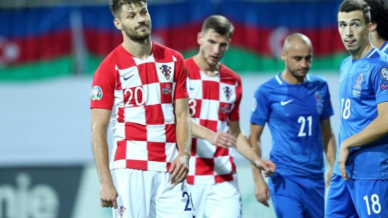 Rebić promašivao čiste zicere, Brozović kiksao kod gola Azera
