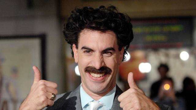 """FILE PHOTO: Actor Sacha Baron Cohen arrives for premiere of """"Borat: Cultural Learnings of America for Make Benefit the Glorious Nation of Kazakhstan"""" in Hollywood"""