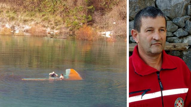 Spasio zmajara: Jezero je bilo ledeno, morao sam biti jako brz