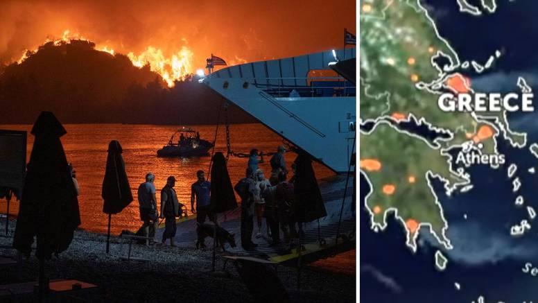 VIDEO Ovo su snimke vatrenog pakla u Grčkoj iz svemira: 'Naš kraj se bliži... Ostali smo sami'