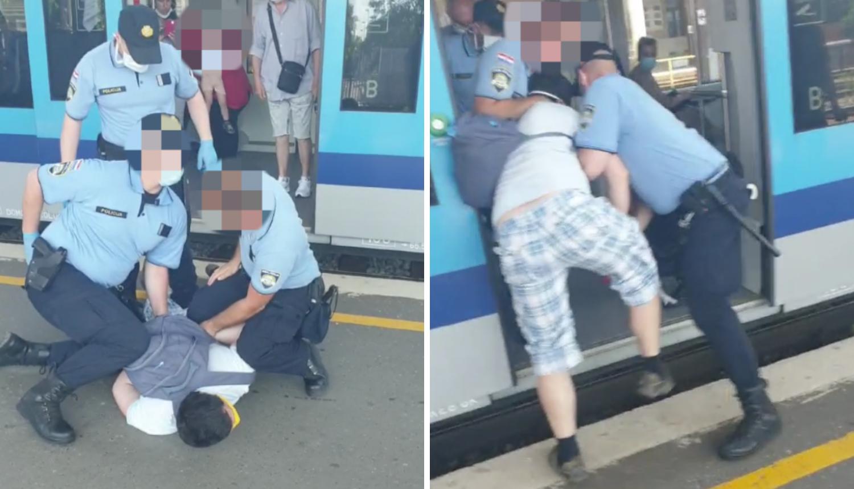 Zagreb: Muškarac ušao u vlak s djetetom, ali nije htio staviti masku. Policija ga je izbacila