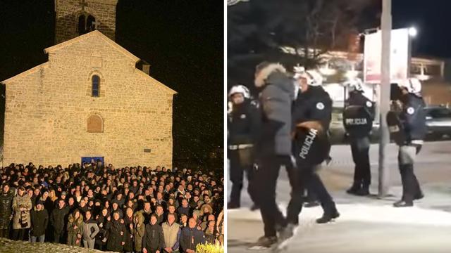 Građani na ulicama Crne Gore: Blokirali cestu, bacili suzavac