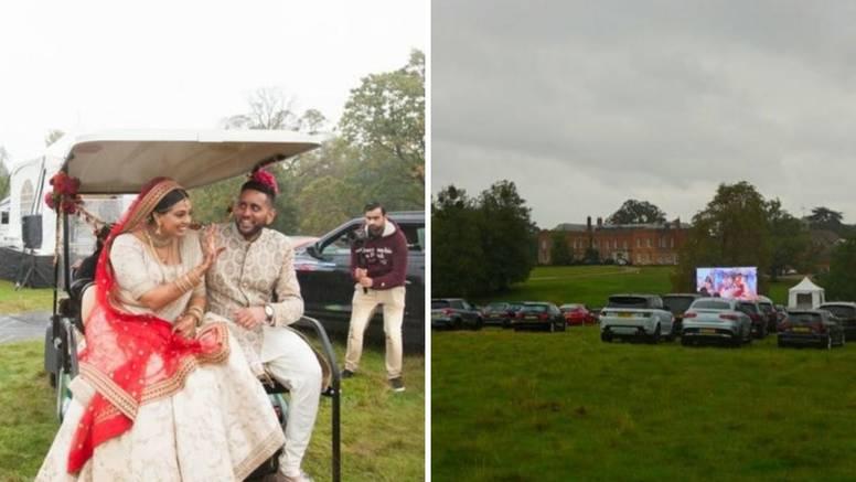 Priredili drive-in vjenčanje: Gosti sve pratili iz automobila