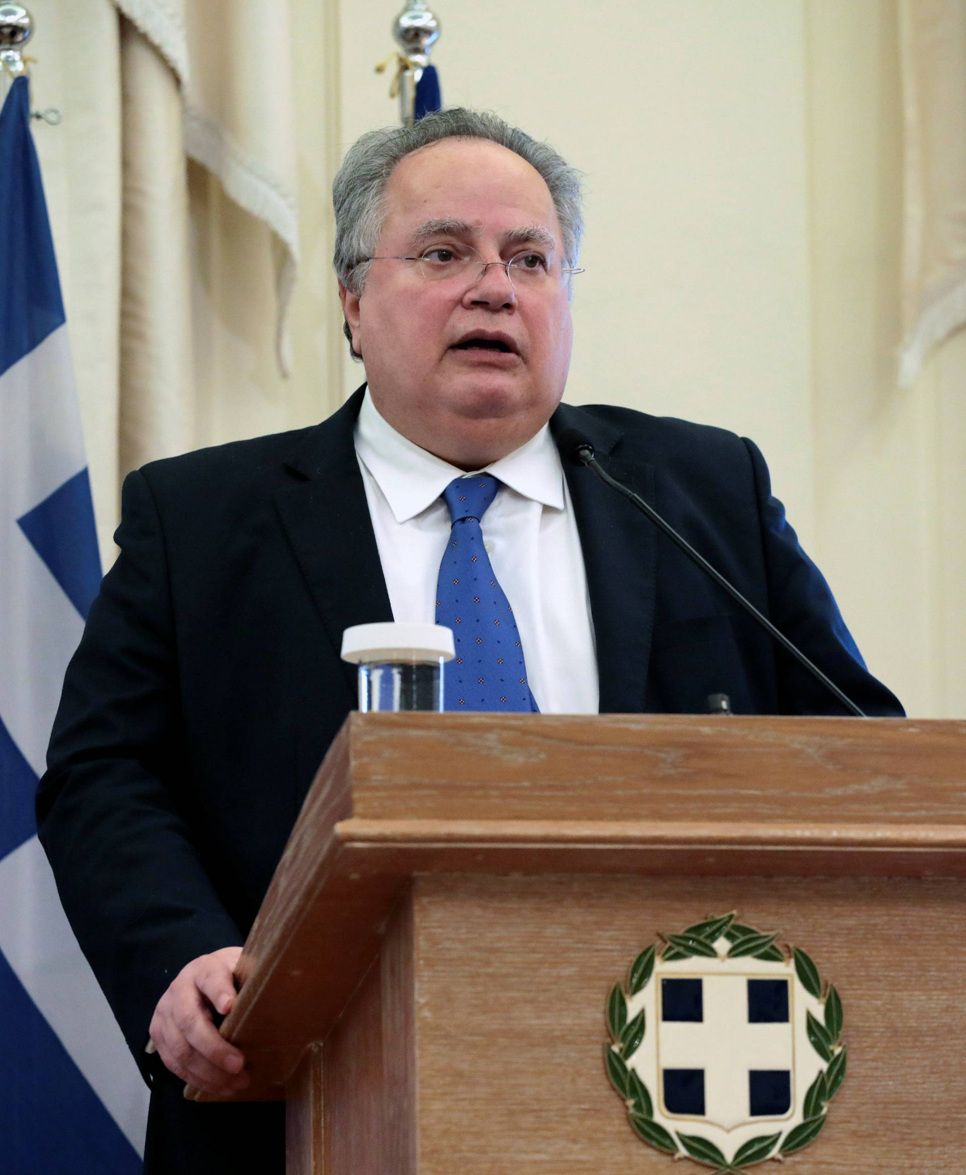 Greek Foreign Minister Kotzias meets with newly-appointed Cypriot Foreign Minister Christodoulides