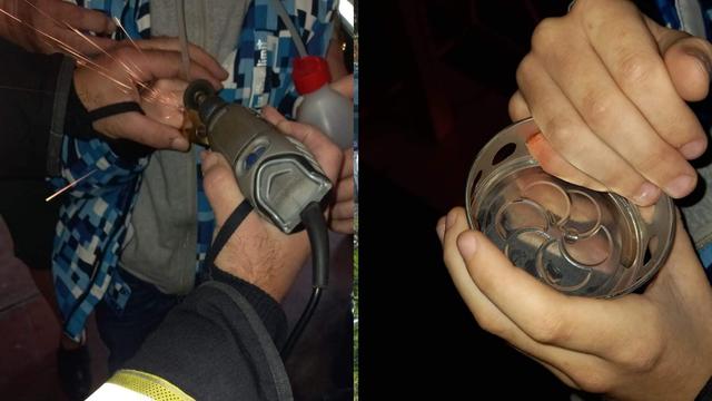 Prst mu se zaglavio u poklopcu lampiona: Problem je riješila tek vatrogasna flekserica...