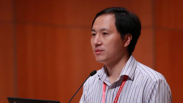 Scientist He Jiankui attends the International Summit on Human Genome Editing at the University of Hong Kong
