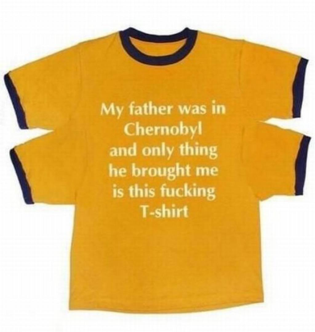 Sve što mi je tata donio iz Černobila je ova grozna majica