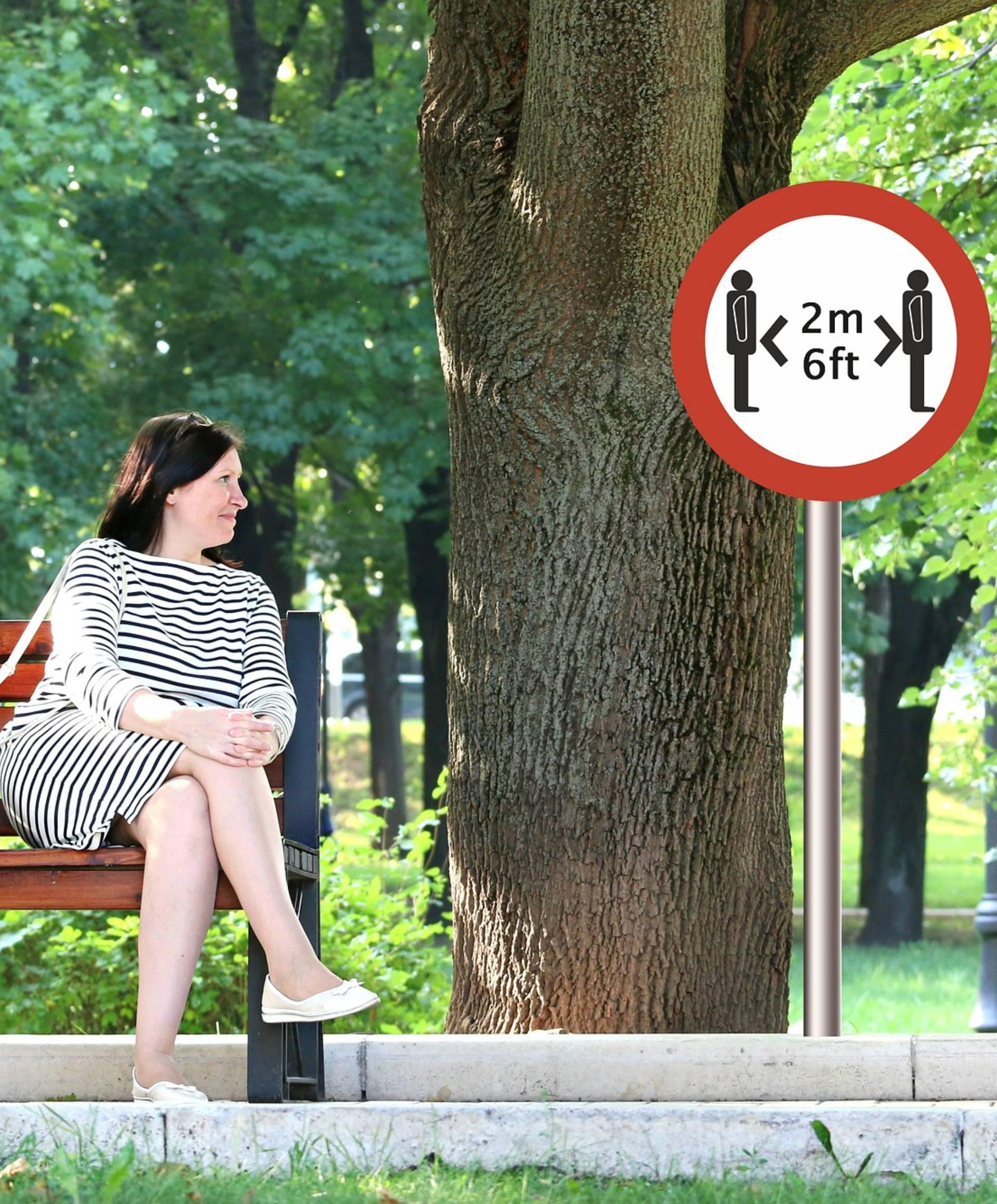 Ilustracija socijalnog distanciranja