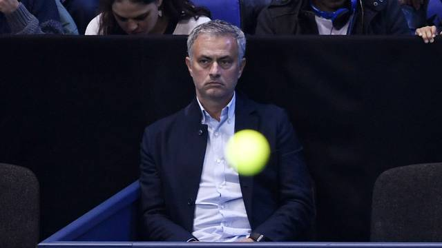 Manchester United manager Jose Mourinho before the action
